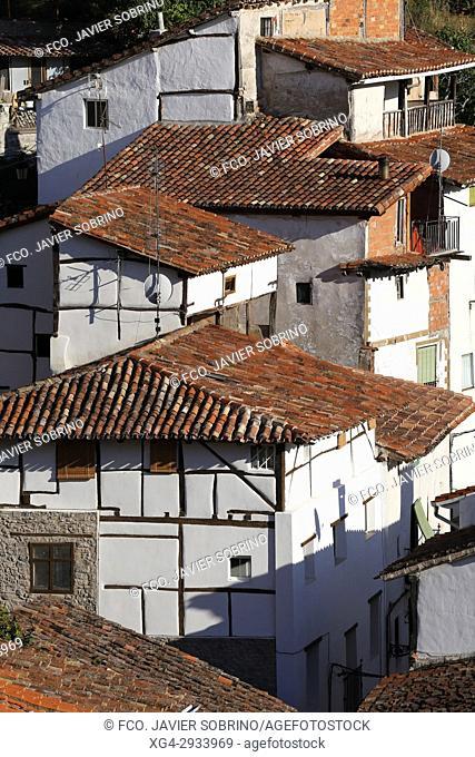 Half-timbered facade. Soto de Cameros. Sierra de Cameros. La Rioja Province. Spain