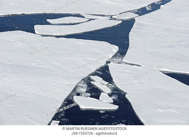 Cracks in Pack ice Ice Floe  Weddell Sea, Antarctic Peninsula, Antarctica