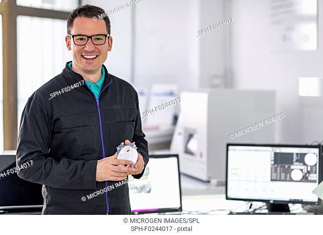 Dental technician in his laboratory