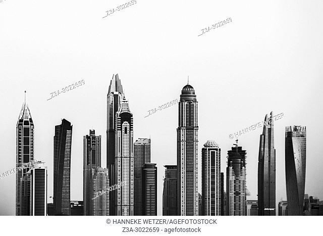 Skyline of Dubai Marina, Dubai, UAE