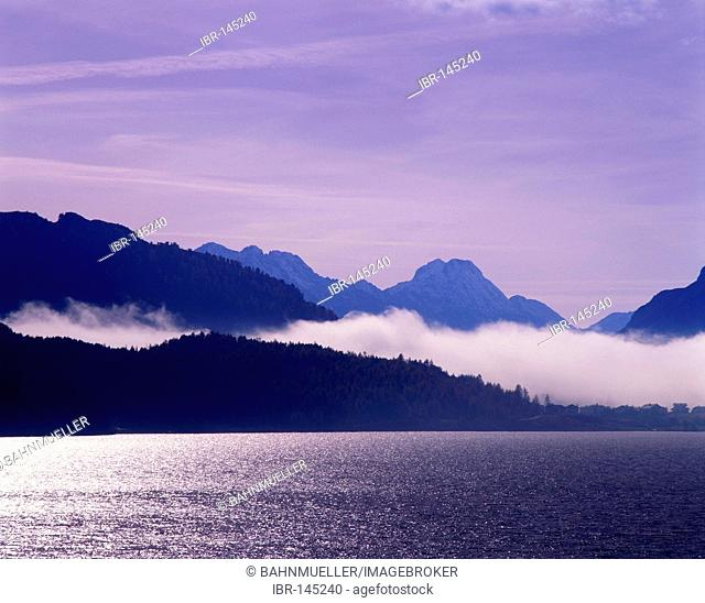 Lake Maloja at the Maloja pass Engadin Switzerland