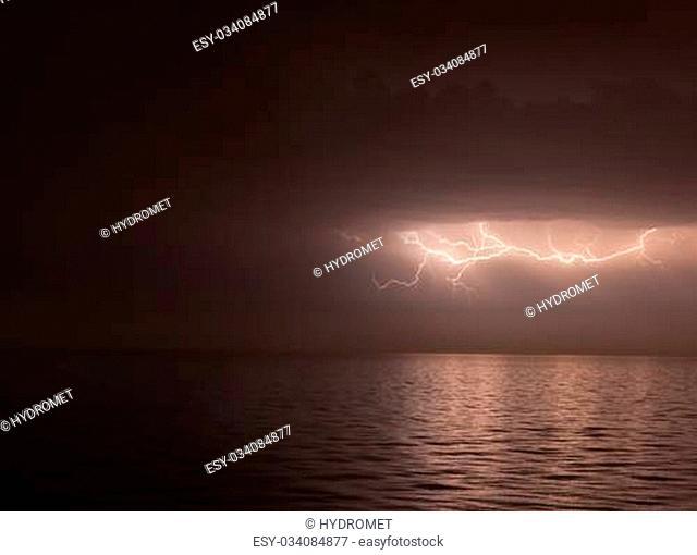 lightning above the sea