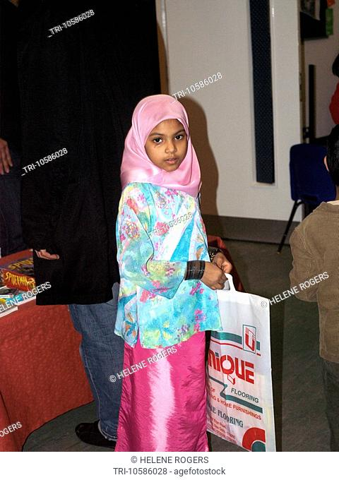 Seven Year Old Eid Party St Josephs Church Hall Epsom Surrey England