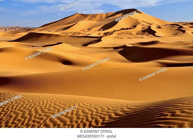 Algeria, View of sanddunes at Erg Tibaradine