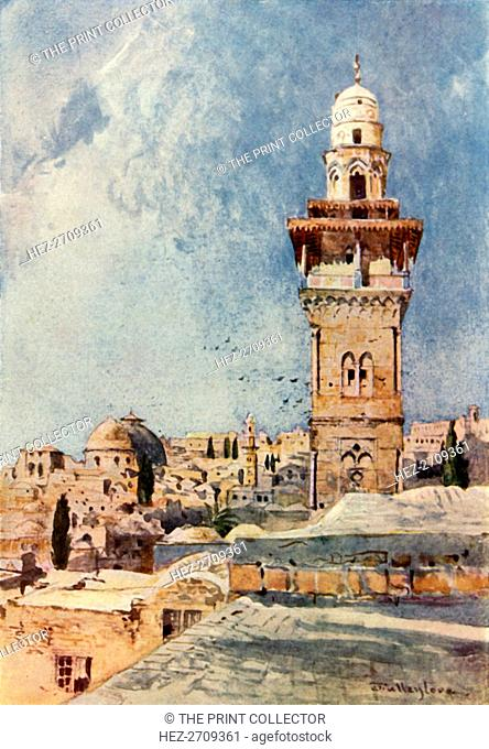 'A Minaret in the North-Western Corner of the Temple Area', 1902. Creator: John Fulleylove