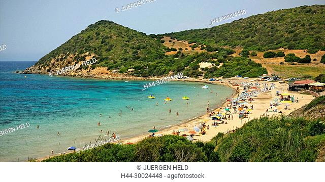Italy Sardinia Polina beach west coast