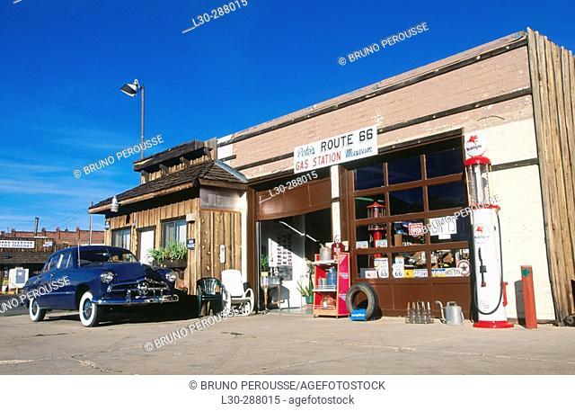 Gas Station on Route 66. Williams. Arizona, USA
