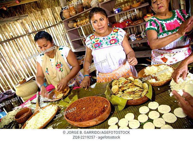 Traditional Mexicans cooking, veracruz, tajin