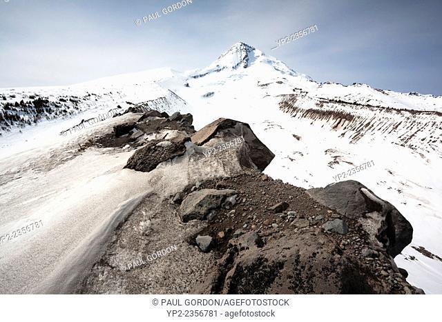 Summit of Mount Hood from Cooper Spur Area, Mount Hood National Forest - Mount Hood, Oregon