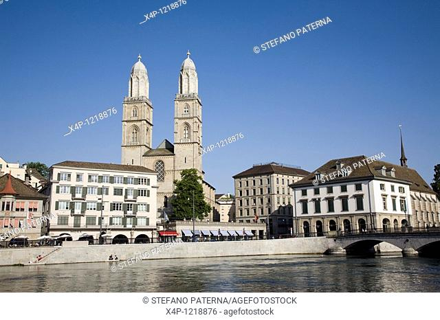Grossmuenster and Wasserkirche, Zurich, Switzerland