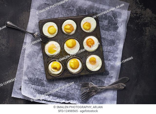 Baked eggs from the oven