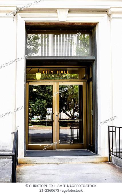 Montgomery City Hall building entrance in Alabama