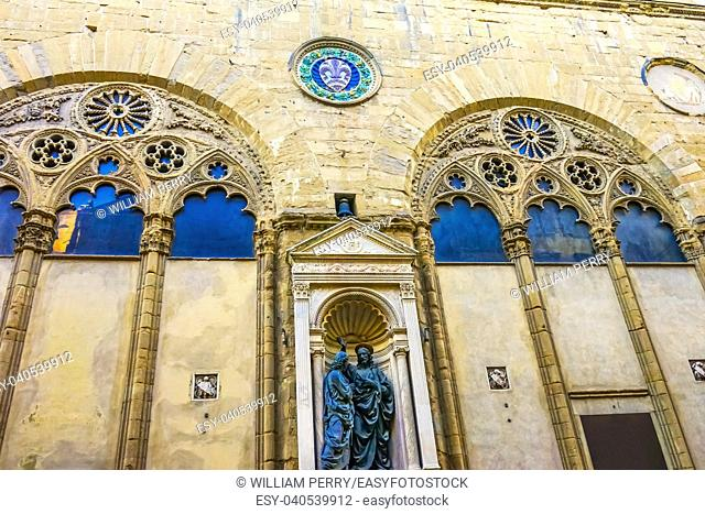 Chiesa Museum Orsanmichele Church Florence Italy. Formerly monastery of Saint Michele, became church in 1400s