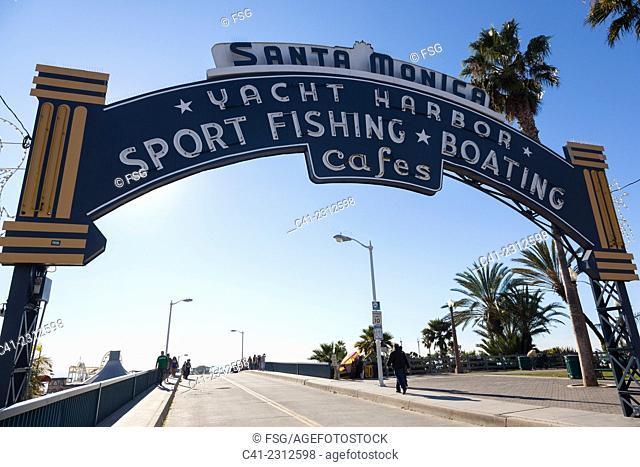 Santa Monica Pier. Los Angeles. California, USA