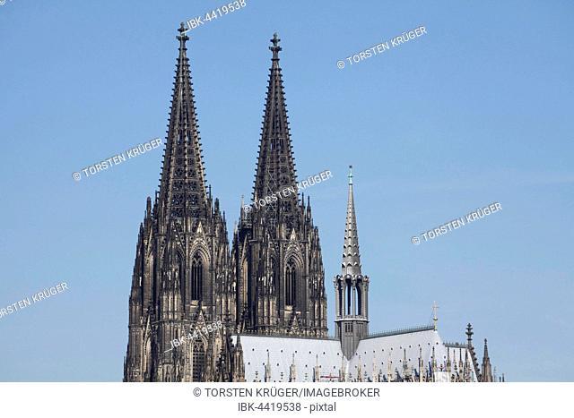 Spires, Cologne Cathedral, Cologne, North Rhine-Westphalia, Germany