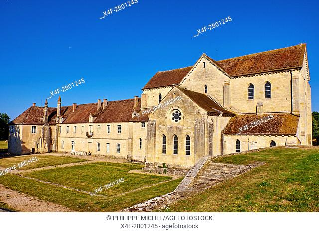 France, Cher (18), Berry, Noirlac Abbey, 12th to 14th century, Cistercian, the Jacques Coeur road