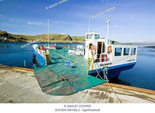 the ferry at Cuan from Seil Island to Luing Island Scotland UK