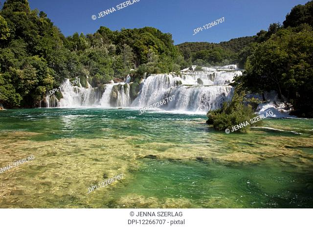 Waterfalls in Krka National Park; Sibenik, Dalmatia, Croatia