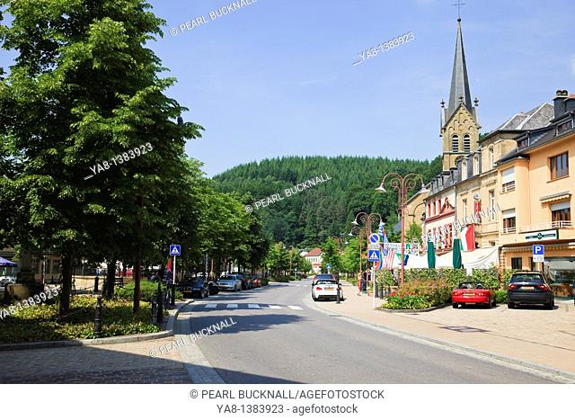 Larochette, Grand Duchy of Luxembourg, Europe  Main street through the town