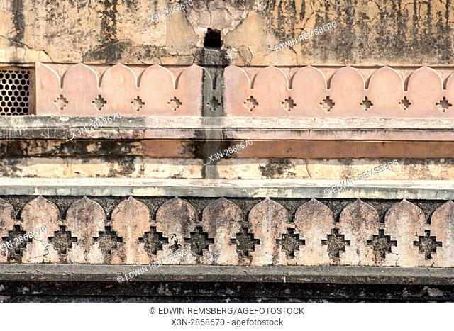 Jaipur, India; Amber Fort - Stone craving