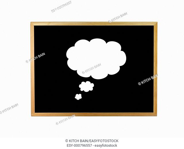 A blackboard isolated against a white background