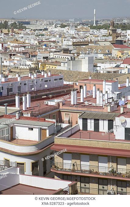 View of Roof Tops, Seville; Spain