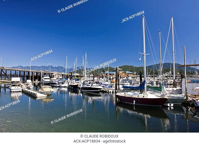 Gibsons Harbour on a summer morning, on the Sunshine Coast of British Columbia, Canada