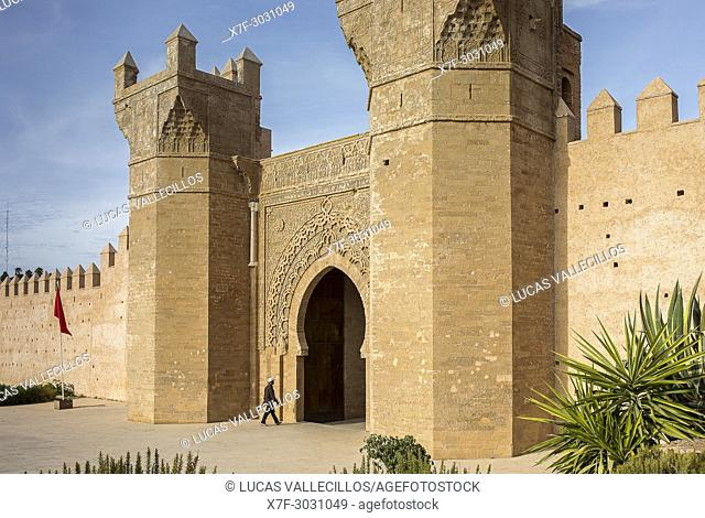 Bab Zaer, the Main Gate of Chellah, Rabat, Morocco,