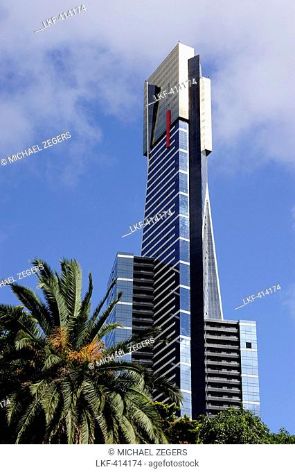 Eureka Tower, a skyscraper in the Southbank area, Melbourne, Victoria, VIC, Australia
