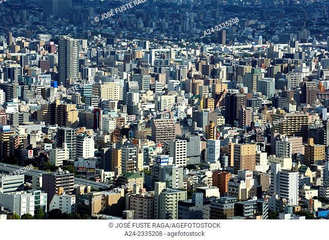 Japan , Nagoya City,Downtown Nagoya Panorama