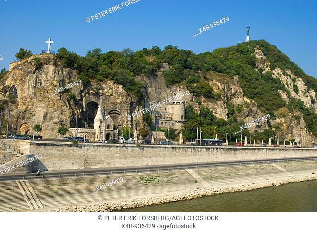 Szent Gellert rakpart riverside boulevard Buda district Budapest Hungary Europe