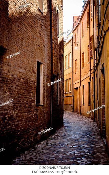 Narrow street in Ravenna