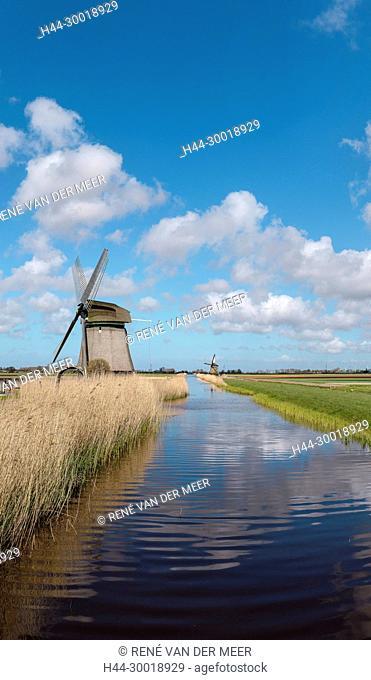 Windmill called Molen P-V, 't Zand, Noord-Holland, Netherlands