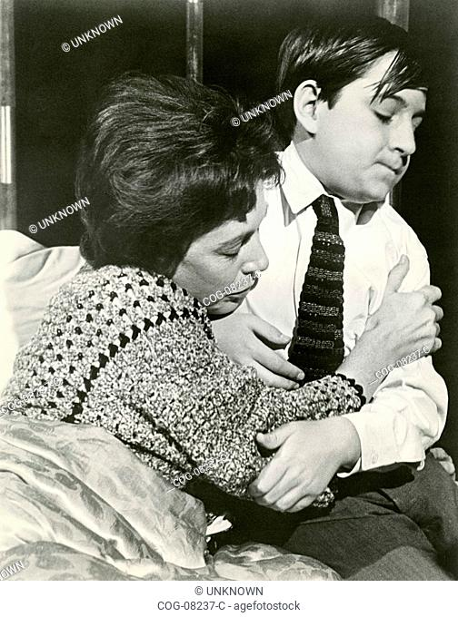 The actors Barry Gordon and Anne Barton in a scene from the film Pressure Point