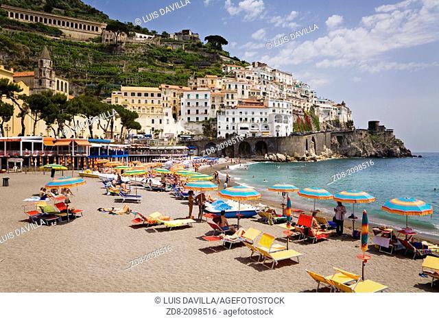 beach in amalfi. italy