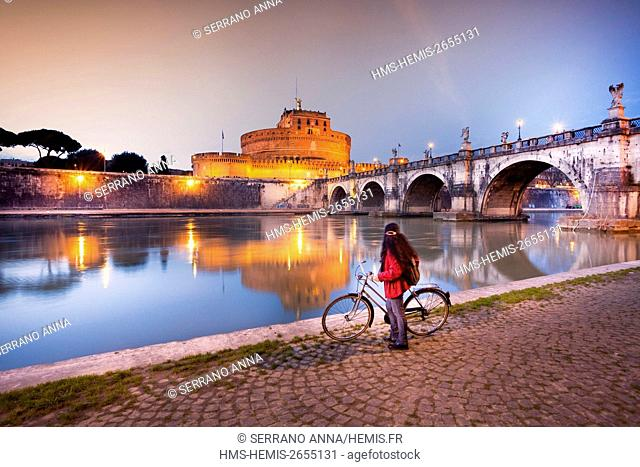 Italy, Latium, Rome, historical centre listed as World Heritage by UNESCO, Castel Sant'Angelo