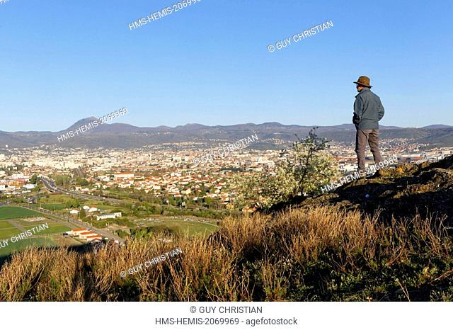 France, Puy de Dome, Clermont Ferrand, Chaine des Puys in the background