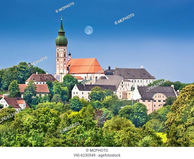 A photography of the cathedral of Andechs Bavaria Germany - 02/08/2009