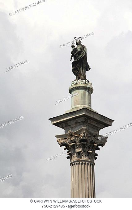 column by basilica di santa maria maggiore church in rome italy