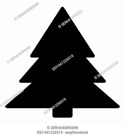 Christmas tree it is the black color icon