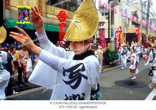 Asakusa  Shitamachi Tanabata festival july Traditional dance Tokyo city, Japan, Asia