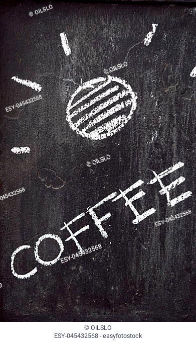 Blackboard label of coffee