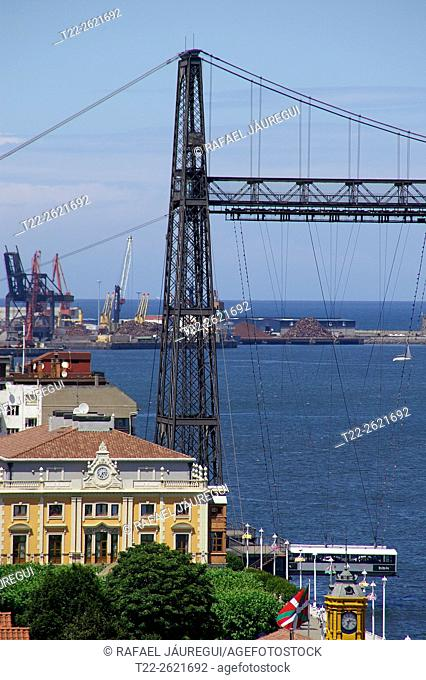 Portugalete (Basque Country) Spain. Details Suspension Bridge Portugalete