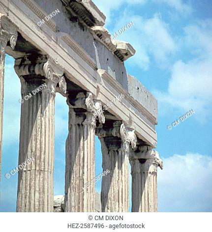 Ionic capitals of the Erechtheion on the Acropolis, 5th century BC
