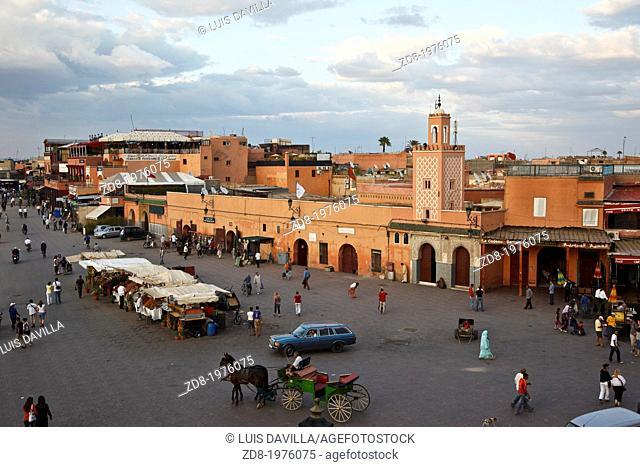 Djemaa El Fna square in marrakech