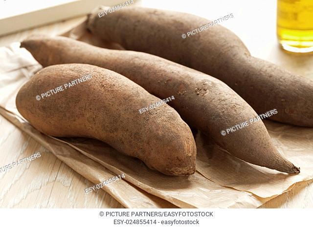 Fresh whole organic Yacon roots