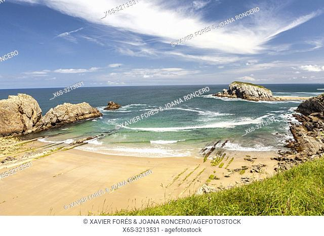 Arnia beach, Liencres, Cantabria, Spain