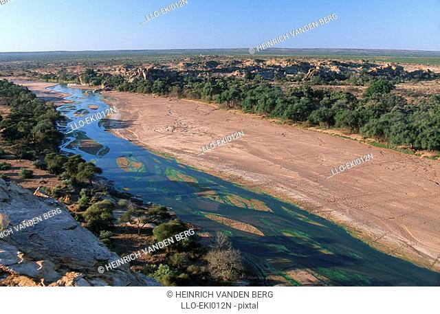 High Angle View of the Olifants River  Kruger National Park, Limpopo Province, South Africa