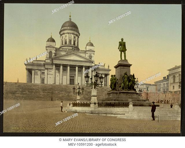 Monument of Alexander II, Helsingfors, Russia, i.e., Helsinki, Finland. Date between ca. 1890 and ca. 1900