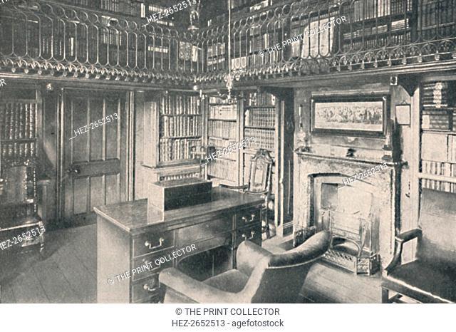 'Sir Walter Scott's Study, Abbotsford', 1904. Sir Walter Scott, (1771-1832) was a Scottish historical novelist, playwright and poet